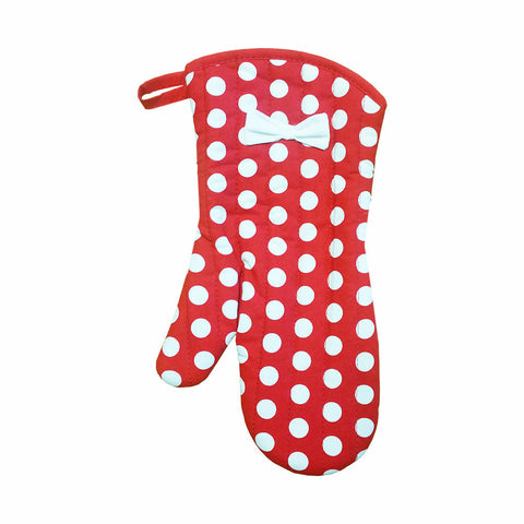 Red & White Polka Dot Oven Mitt