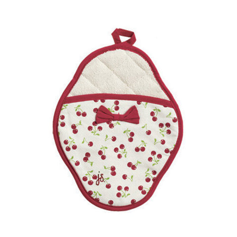 Retro Cherries Scalloped Pot Mitt