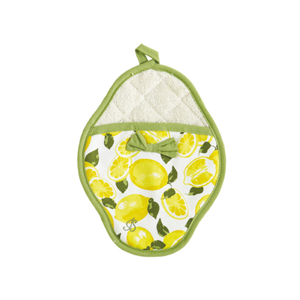 Summer Lemons Scalloped Pot Mitt