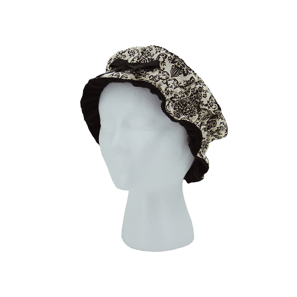 Cream and Black Bouquet Damask Headband