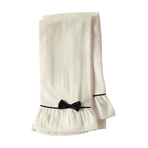 Cream with Black Trim Terry Towels