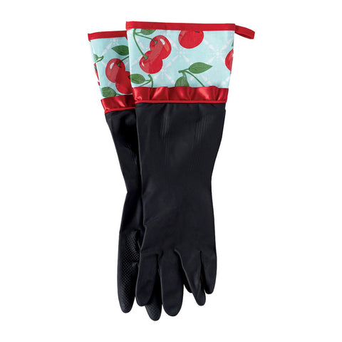 Kitchen Cherry Rubber Gloves