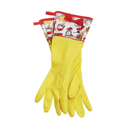 Vintage Kitchen Rubber Gloves