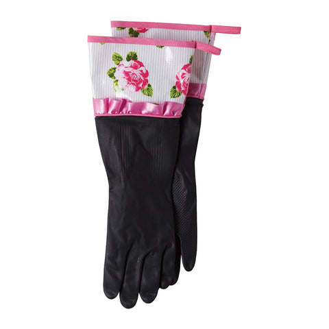 Peony Stripe Rubber Gloves