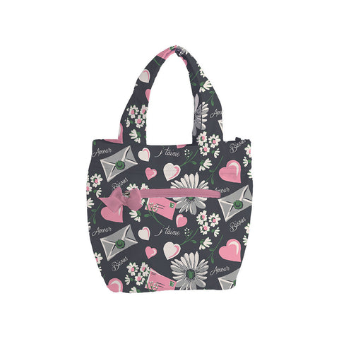 Floral Love Letters Insulated Travel Tote