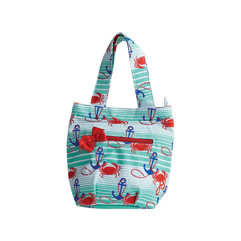 Nautical Waves Insulated Lunch Tote