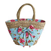 Pink Magnolias Seagrass Market & Beach Bag