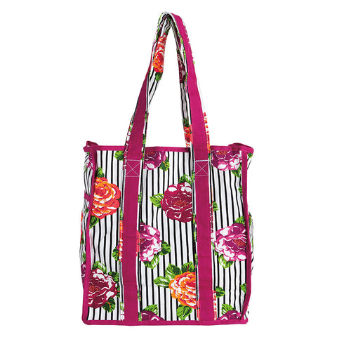 Jeweled Peony Stripe Classic Tote Bag