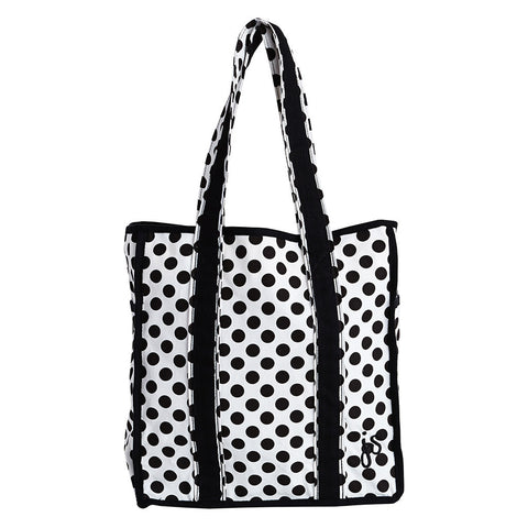 Cream & Black Polka Dot Classic Tote Bag