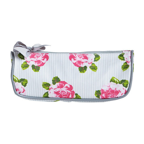 Peony Stripe Brush Cosmetic Bag