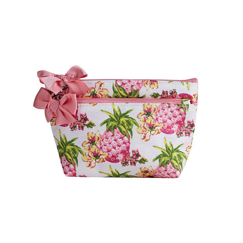 Pink Pineapples Petite Cosmetic Bag