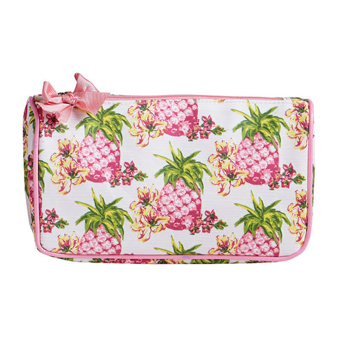 Pink Pineapples Generous Cosmetic Bag