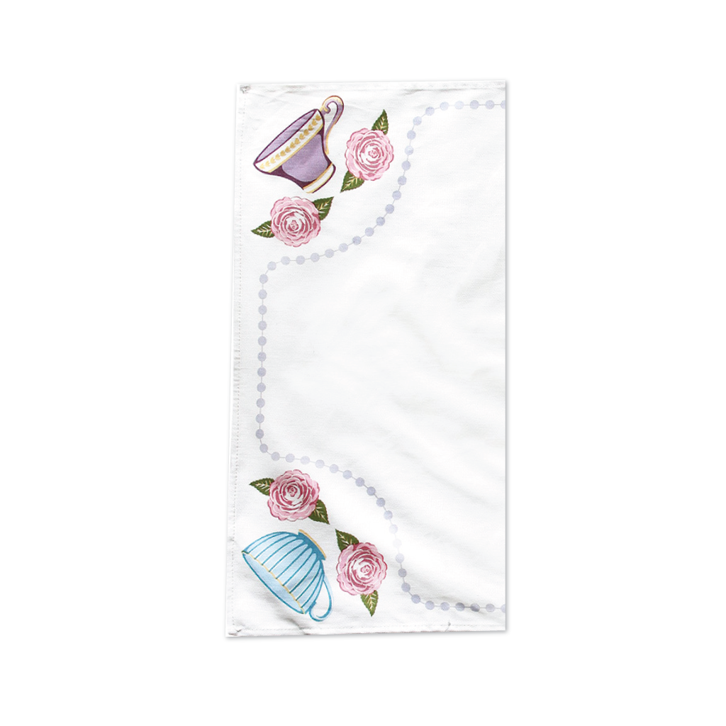 Teacups Tea Towels Set of 2