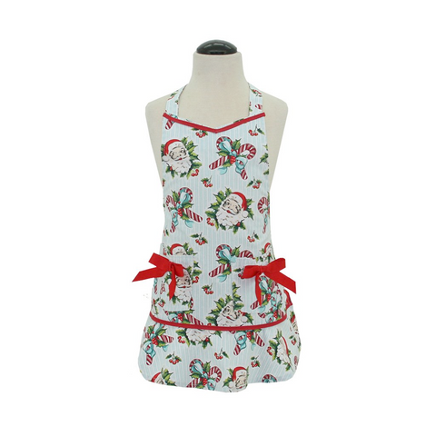 Candy Cane Santa Child's Lucille Apron