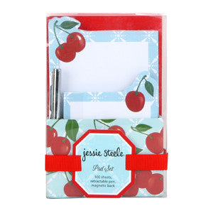Kitchen Cherry Pad Set with Pen & Caddy