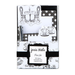 Cafe Toile Pad Set with Pen & Caddy