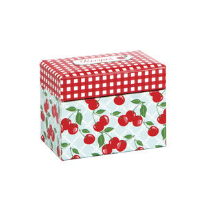 Kitchen Cherry Recipe File Box