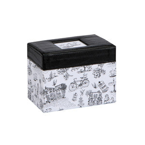 Cafe Toile Recipe File Box