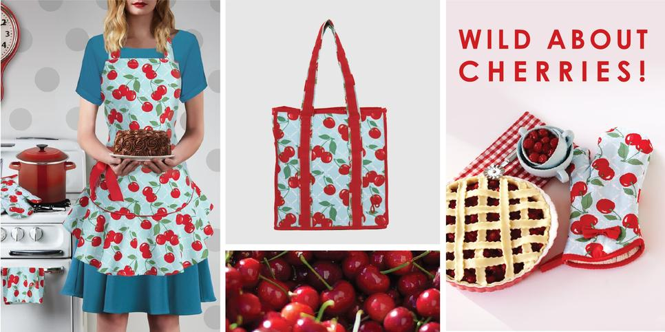 Kitchen Cherry Apron Collection