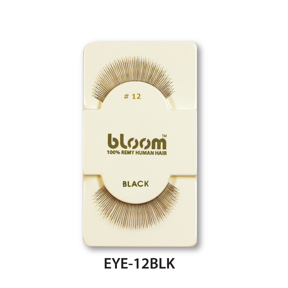 100% HUMAN EYE LASHES 12# BLACK