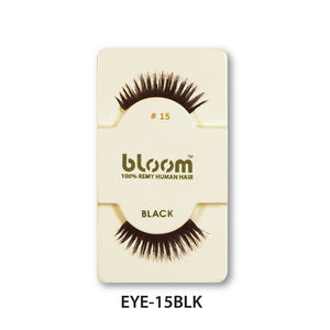 100% HUMAN EYE LASHES 15# BLACK