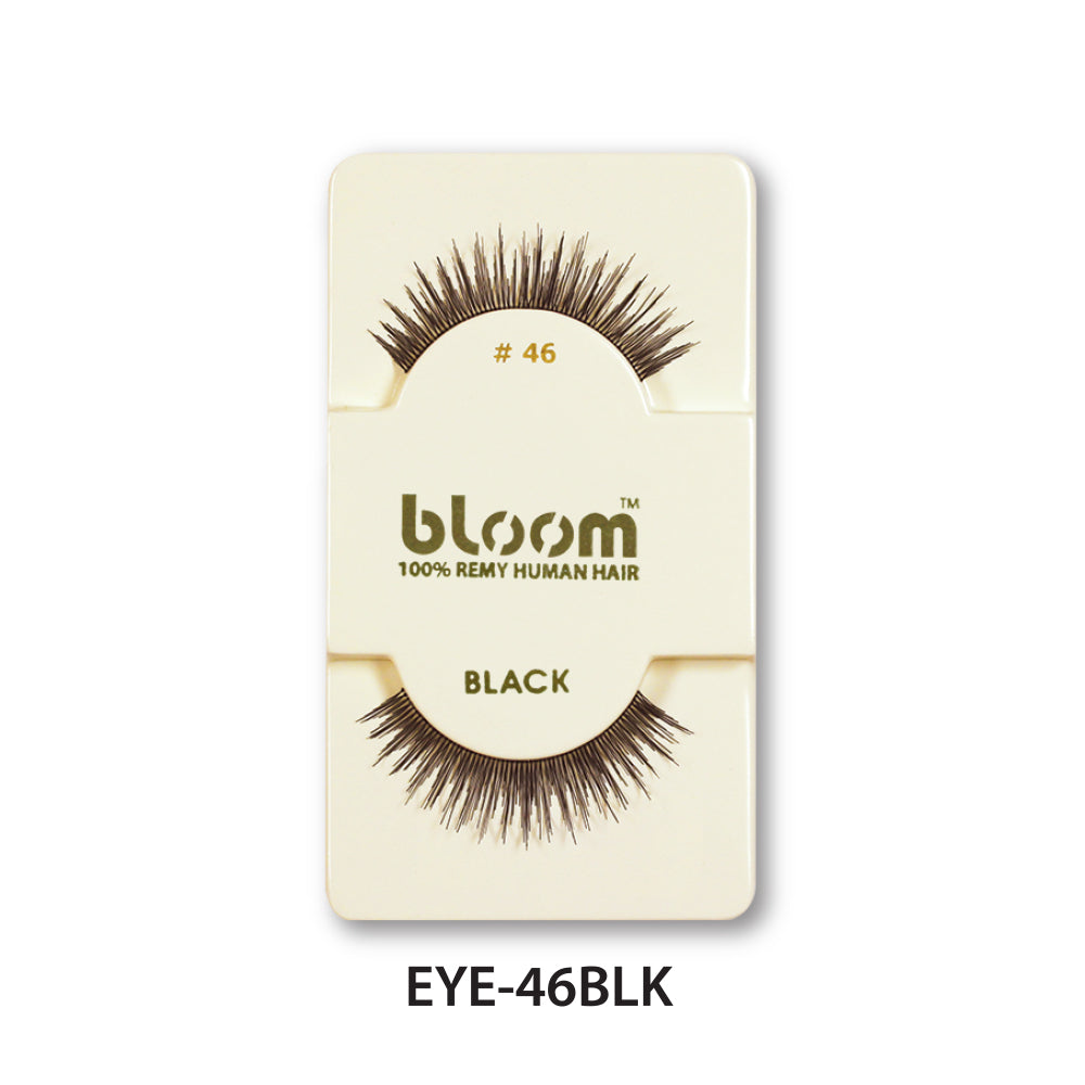 100% HUMAN EYE LASHES 46# BLACK