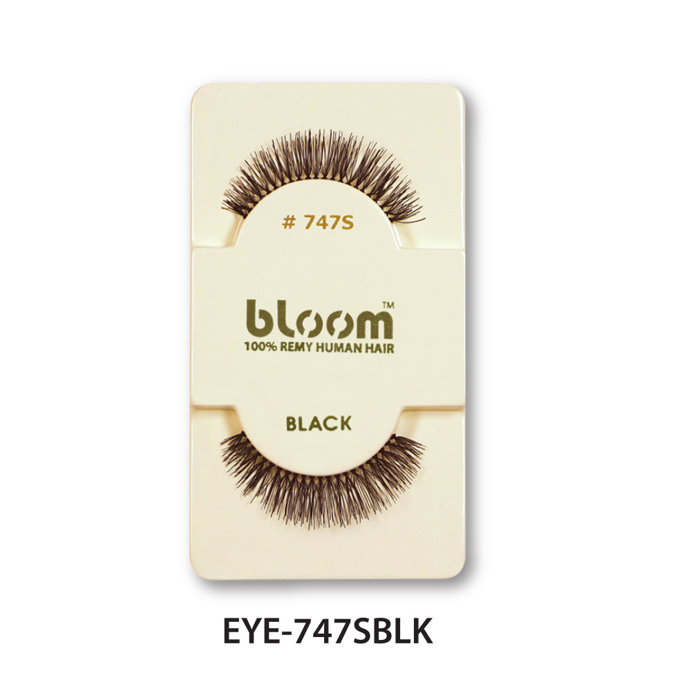 100% HUMAN EYE LASHES 747S# BLACK