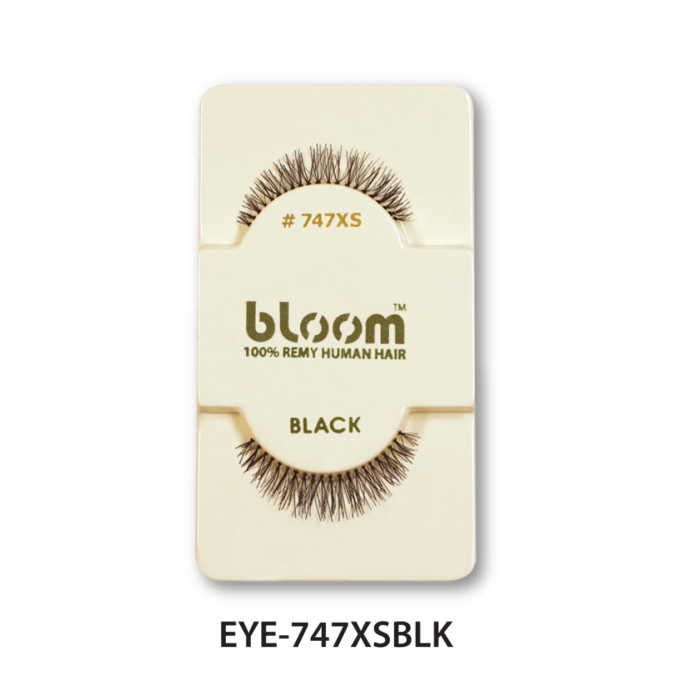 100% HUMAN EYE LASHES 747XS# BLACK