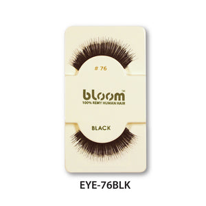 100% HUMAN EYE LASHES 76# BLACK