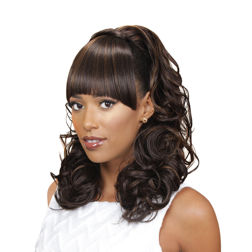FRINGE PONYTAIL (ELIZA) - Eve Hair Inc - Human hair,Lace Front, Weave, Extension and supply in ...