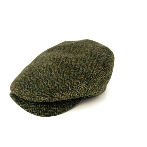 Jonathan Richards Herringbone tweed Cap
