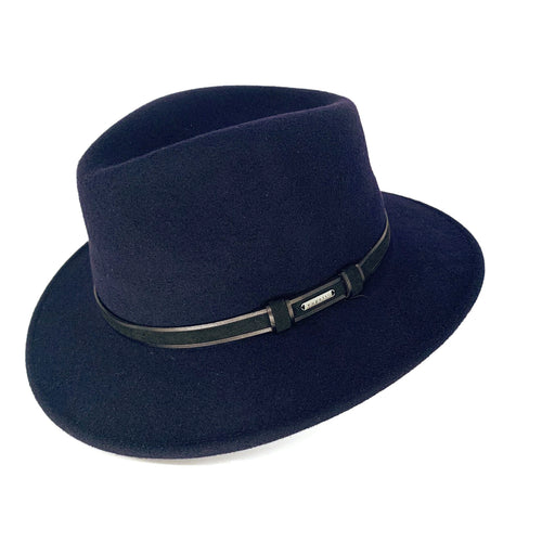 Bugatti navy crushable felt Hat
