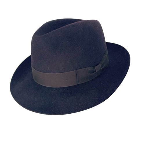 Navy Trilby Hat
