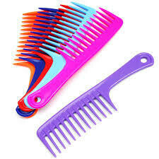 "Shower Comb-10"" Handle Comb"
