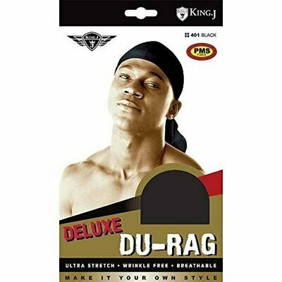 King J Deluxe Durag in black