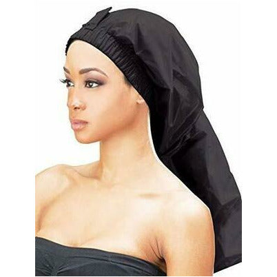 Qfitt Super Jumbo Braid Shower Cap Black