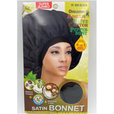 QFITT: Organic 4-in-1 Treated Super Jumbo Black Satin Bonnet