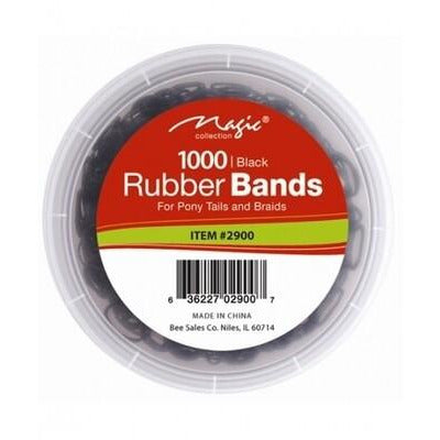 "Magic Rubber bands 1000 1-2"" Black"