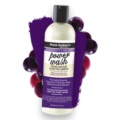 Aunt Jackie's Power Wash Intense Moisture Clarifying Shampoo 12 oz