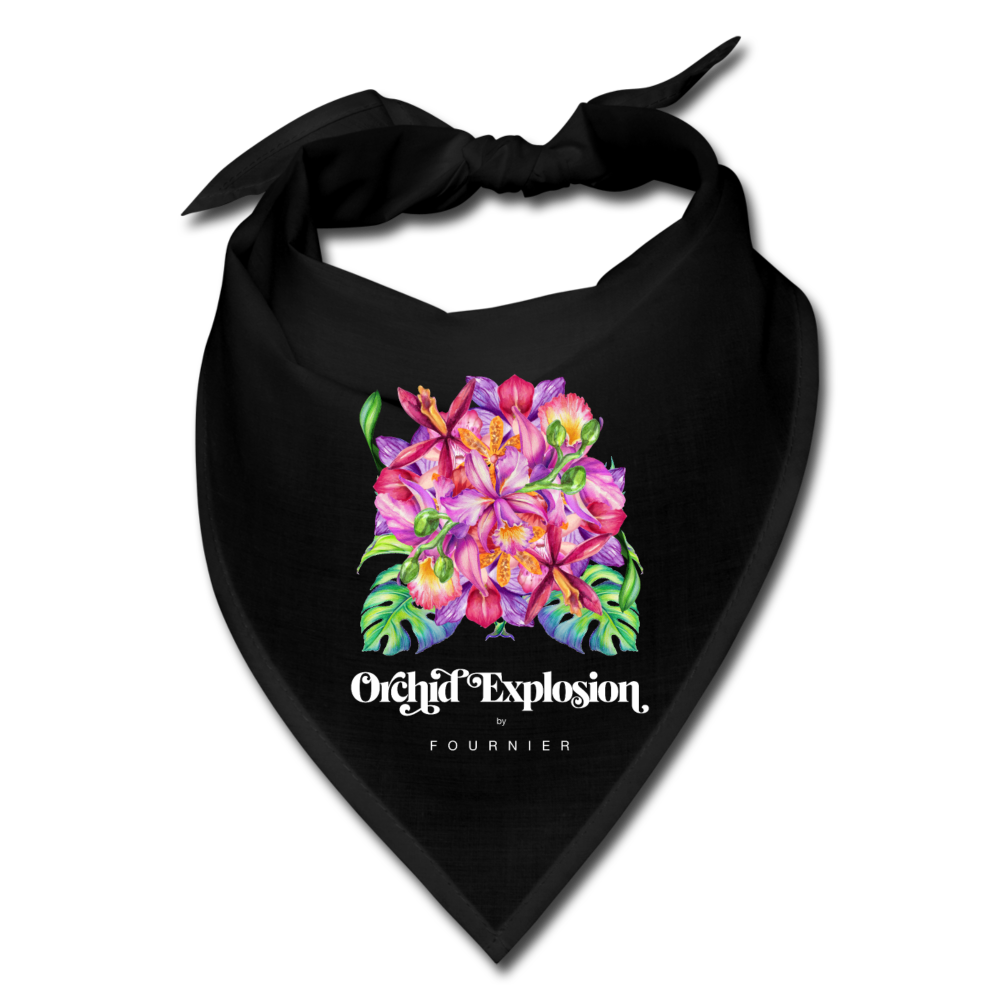 Orchid Explosion by Fournier Bandana - black