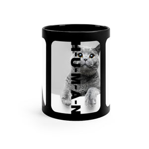 Open image in slideshow, Funny Cats Black Coffee Mug