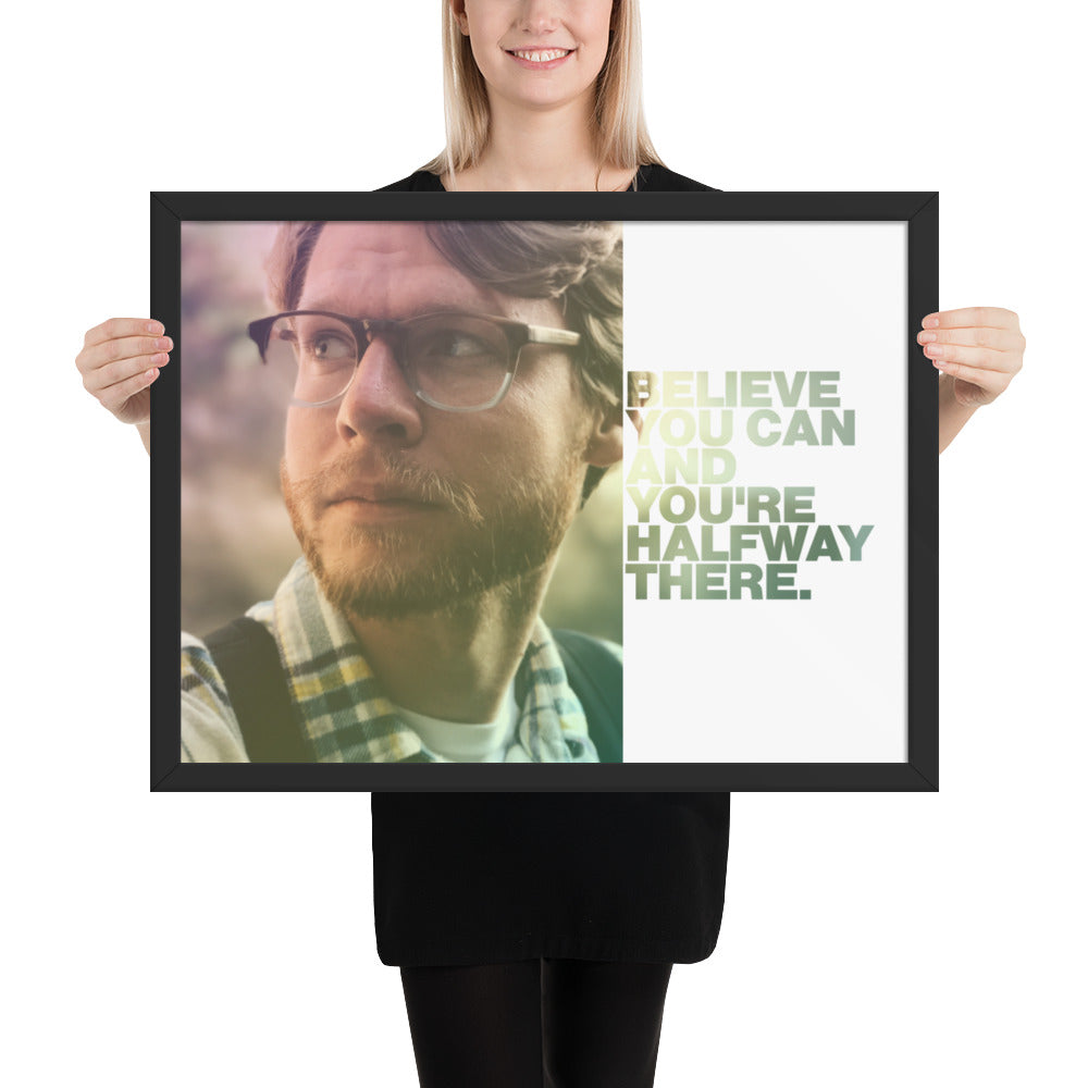"Customizable Motivational Framed Premium Poster. ""Believe you can and you're halfway there."" -Theodore Roosevelt - Next Art Lab"