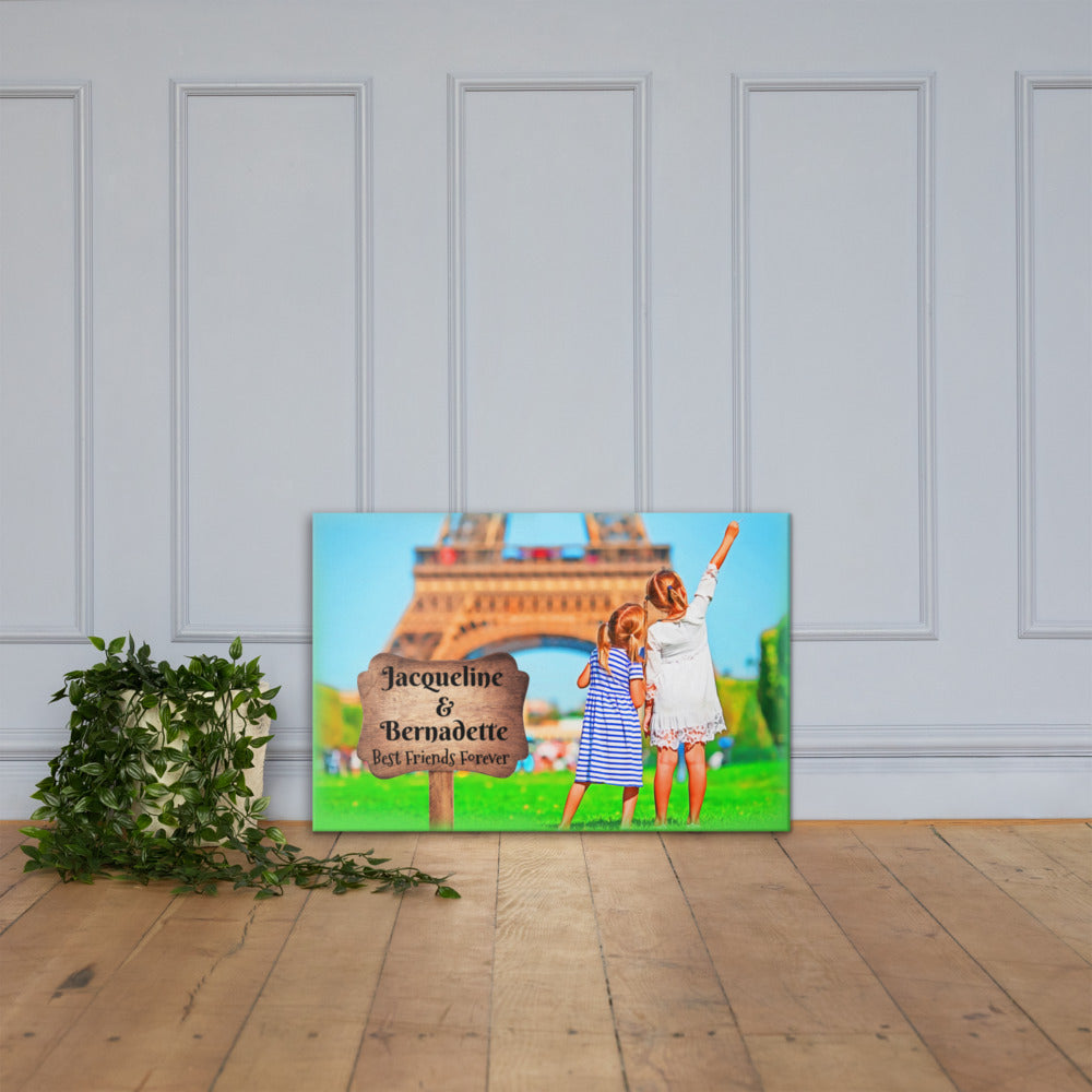 Best Friends Forever Customizable Premium Canvas Art - Next Art Lab