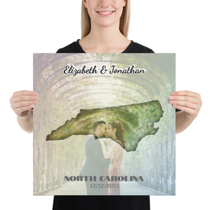 North Carolina State Of Love, Mark your memories with this customizable primum poster - Next Art Lab