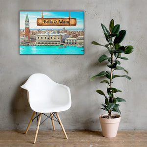Open image in slideshow, Love in Venice View Customizable Premium Canvas Art - Next Art Lab