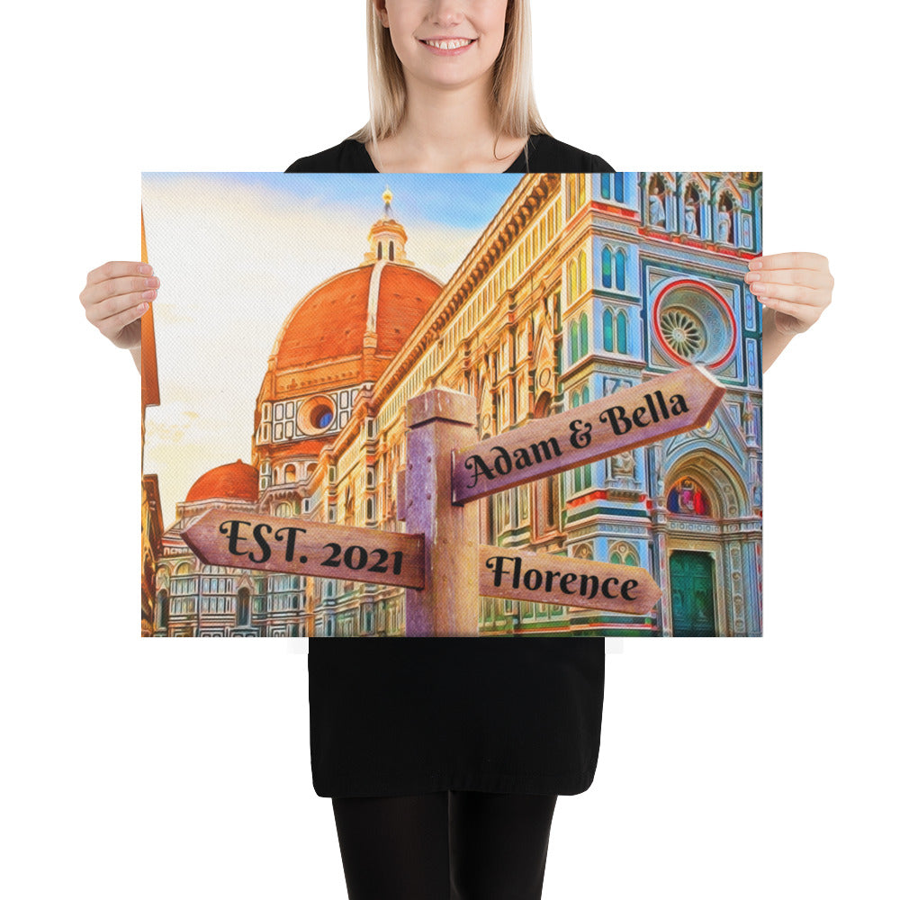 Love in Florence Customizable Premium Canvas Art - Next Art Lab