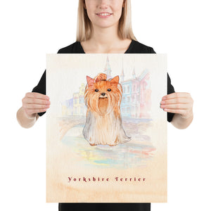 Open image in slideshow, Yorkshire Terrier Dog Pet Art - Customizable Hand Drawn Watercolor Style Poster For Pet Lovers - Next Art Lab