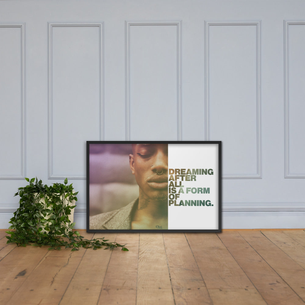 "Customizable Motivational Framed Premium Poster. ""Dreaming, after all, is a form of planning."" -Gloria Steinem - Next Art Lab"