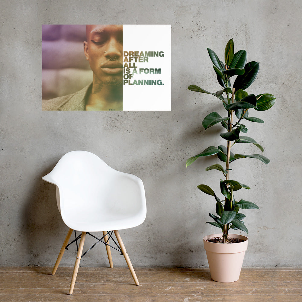 "Customizable Motivational Premium Poster. ""Dreaming, after all, is a form of planning."" -Gloria Steinem - Next Art Lab"