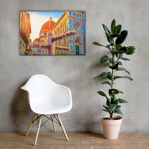 Open image in slideshow, Love in Florence Customizable Premium Canvas Art - Next Art Lab